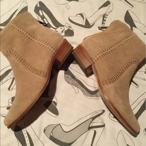 Joie Suede Boots with Stud Embroidery